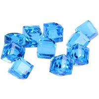 10pcs 4mm Nail Art Stone Faceted Cube Cut Glass Crystal Charm DIY Finding Loose Spacer Beads Nail Rhinestones Decorations