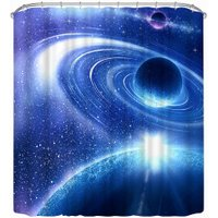 3D Space Curtain Mysterious Space Shower Curtain 70.8