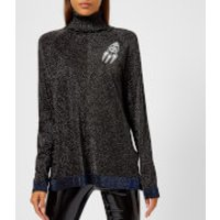 Karl Lagerfeld Women's Space Karl Lurex Knitted Jumper with Patches - Black - S - Black