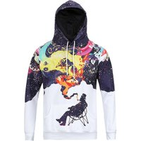 New Arrival Fashion 3D Hoodie Funny Man Smoking Print Galaxy Space Unisex Sweatshirt Autumn Men Women Hooded Pullovers Tops