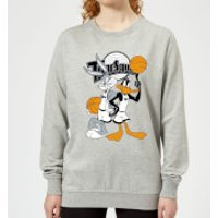 Space Jam Bugs And Daffy Time Squad Women's Sweatshirt - Grey - 5XL - Grey